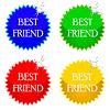Векторный клипарт: лучший друг иконки