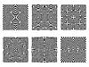Векторный клипарт: черно-белые узоры