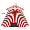 Vector clipart: circus tent