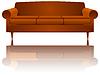 Векторный клипарт: диван отражение