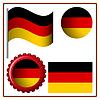 Deutschland Grafiksatz