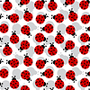 Ladybugs seamless texture | Stock Vector Graphics