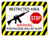 Vector clipart: no trespassers allowed