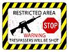 Векторный клипарт: запрещенная зона для прохода