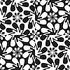 Vector clipart: abstract flowers pattern