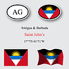 antigua and barbuda icons set