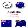 Vector clipart: australia icons set