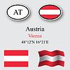 Vector clipart: austria icons set