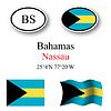 Vector clipart: bahamas icons set