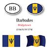 Vector clipart: barbados icons set
