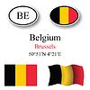 Vector clipart: belgium icons set