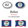 Vector clipart: belize icons set