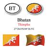 Vector clipart: bhutan icons set