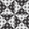 Vector clipart: black and white circles pattern
