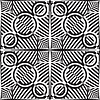 Vector clipart: black and white stripy pattern