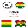 Vector clipart: bolivia icons set