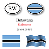 Vector clipart: botswana icons set