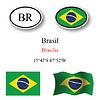 Vector clipart: brasil icons set