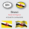 Vector clipart: brunei icons set