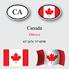 Vector clipart: canada icons set