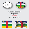 central african republic icons set