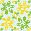 Vector clipart: circles and flowers pattern