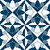 Vector clipart: circles wavy pattern