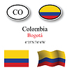 Vector clipart: colombia icons set