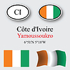 cote d`ivoire icons set