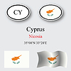 Vector clipart: cyprus icons set