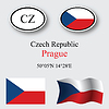 Vector clipart: czech republic icons set