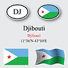 Djibouti icons set | Stock Vector Graphics