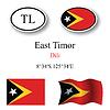 Векторный клипарт: набор Восточный Тимор иконки