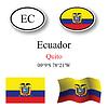 Vector clipart: ecuador icons set