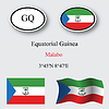 Vector clipart: equatorial guinea icons set