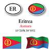 Vector clipart: eritrea icons set