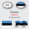 Vector clipart: estonia icons set