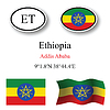 Vector clipart: ethiopia icons set