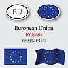 Vector clipart: european union icons set