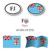Vector clipart: fiji icons set