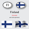 Vector clipart: finland icons set
