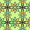 Vector clipart: flowers abstract geometric pattern