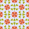 Vector clipart: flowers and leaves pattern
