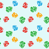 Vector clipart: flowers colorful pattern