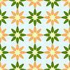 Vector clipart: flowers geometric pattern