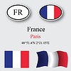 Vector clipart: france icons set