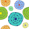 Vector clipart: funny boulders pattern