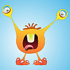 Vector clipart: funny monster