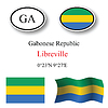 Vector clipart: gabonese republic icons set