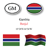 Vector clipart: gambia icons set
